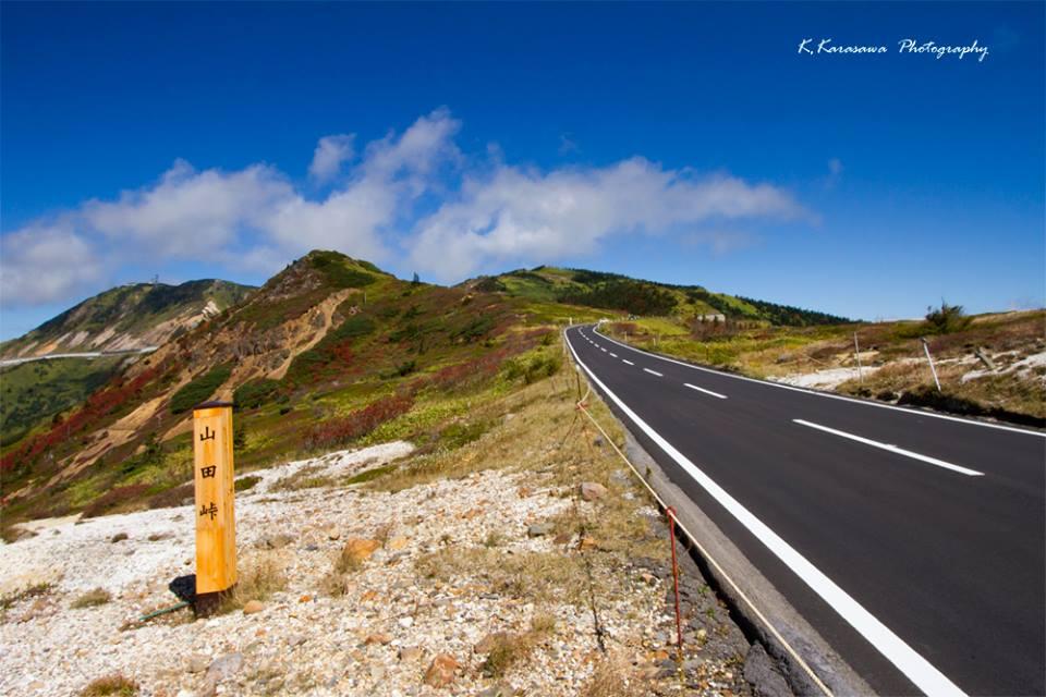 冷たい風が心地よい山田峠の秋空です。