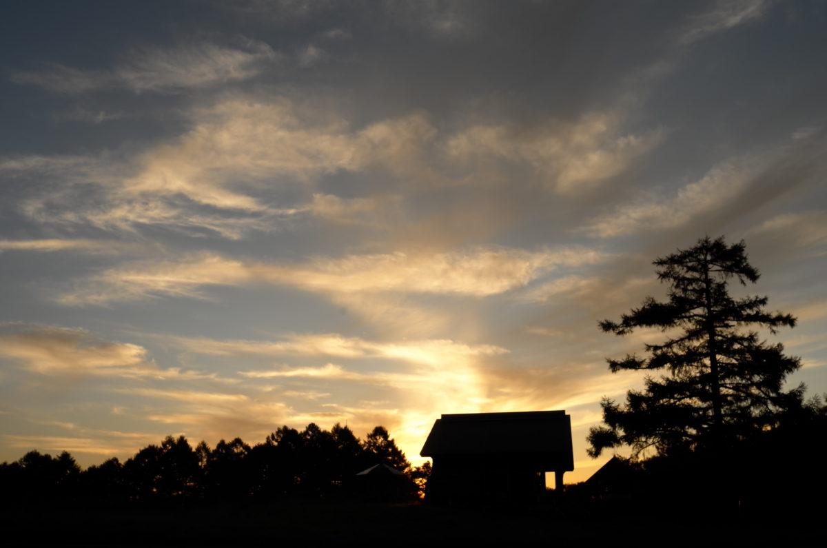張り詰めた空気が美味しいカヤノ平の夕景。