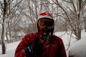 奥志賀はリアルな吹雪