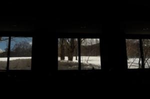 春、雪景色