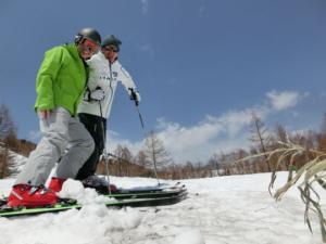 春スキーは全開です