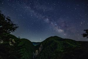 澗満滝と天の川、風景写真家さんの作品Ⅰ。