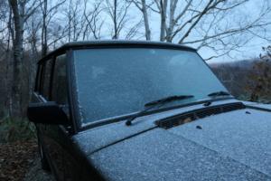 初雪を迎えました。