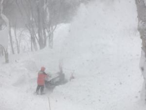 最強の暴風雪。