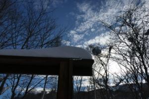 地吹雪去る、翌日の昼下がり。
