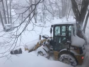 大雪警報。