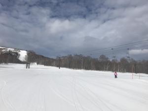 朝一番、春スキー!