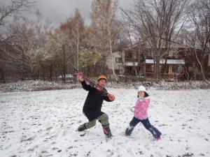 雪だ!雪だぞ!