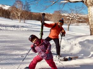 娘とスキー旅、奥志賀 to 丸池!
